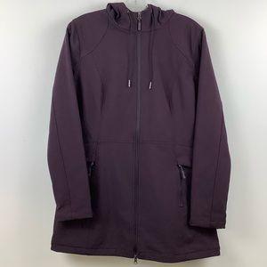George Zip Front Long Sleeve Jacket in Purple
